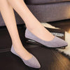 Comfy Pointed Toe Women Suede Slip-On Flats