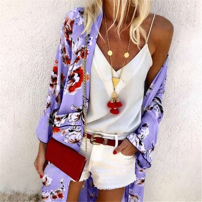 Fashion Casual Print Long sleeve Long Blouses