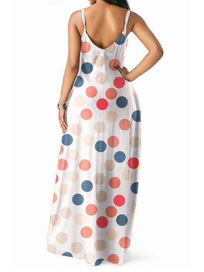 Hot Wave Point Woman Maxi Dress