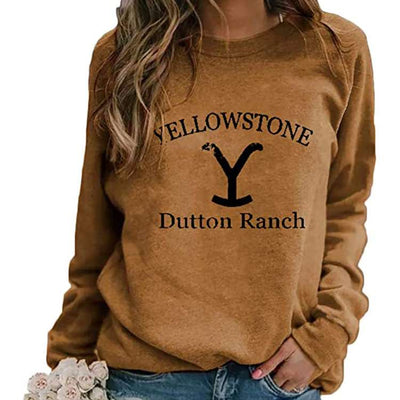 Fashion  printed round neck long sleeve sweatshirts