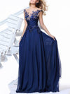 Pretty Embroidery Sleeveless Maxi Dress Evening Dress