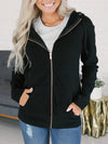 Plain Daily Casual Woman Hooded With Pockets