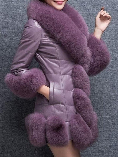 Women Faux Fur Chic Overcoat