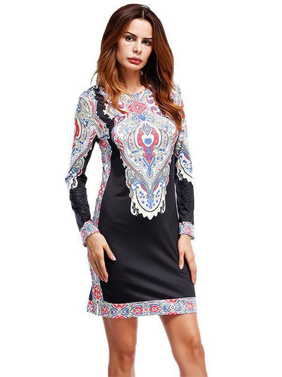 Floral Printed Split-Side Mini Dress