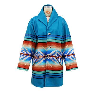 Fashion Casual Print Hoodie Long sleeve Trench Coats