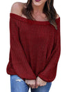 Autumn Winter Off Shoulder Woman Sexy Sweaters