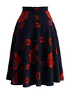 Woman Print Flory Customized Material Date Skirts