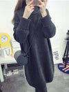 Casual H-line Knitted Long Sleeve Sweater