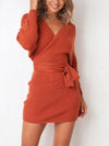 Sexy Long Sleeve Woman Autumn Bodycon Dress