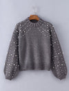 Top Quality Thick Round Neck Loose Chic Woman Fashion Sweater