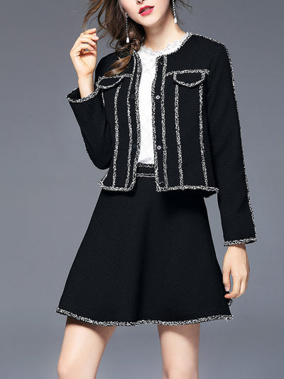 Black Fashion Woman Customized Style Elegant Autumn Blazer
