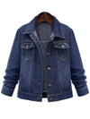Denim Flap Pocket Single Breasted Light Wash Jacket