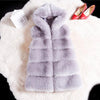 Women's High-Grade Faux Fur Coat Vest Jacket