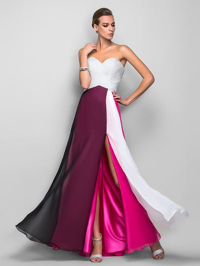 Off-the-shoulder Split-side Evening Dress