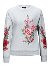 Floral Plain  Long Sleeve Sweatshirts