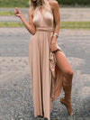 Multi-Way Plain Empire Evening Dress