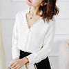 Sexy Loose Plain Lapel Long-Sleeved Shirts