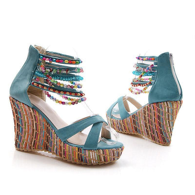 Bohemian Wedge women Sandals