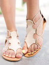 Women's Fashion Pants Bandage Sandals Zipper Closure
