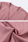 Deep V Neck  Belt  Plain  Bell Sleeve  Woman Blouses