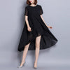 Chiffon Cool  Short Sleeve Shift Dress