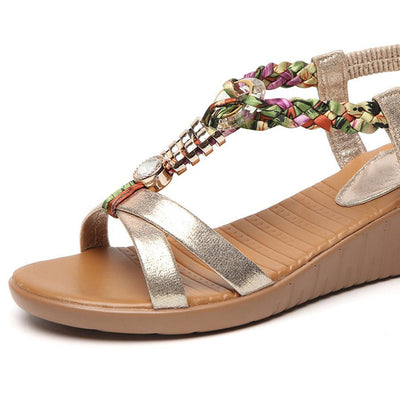 Woman High Heeled  Ankle Strap  Peep Toe  Casual Outdoor Wedge Sandals
