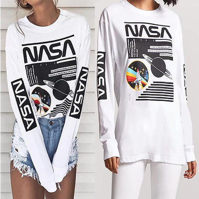 Fashion White Letter Printed T-Shirts