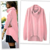 Fashion Early Autumn Pure Color Irregular Sweater