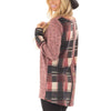 Fashion Plaid Patchwork Round Neck Long Sleeve T-Shirts