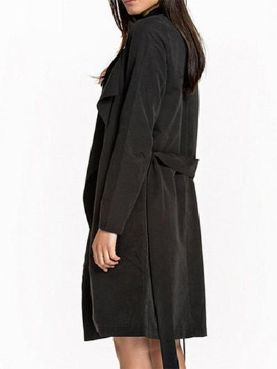 Fashion Long Sleeve Long Style Trench Coat
