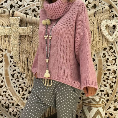 Fashionable And Casual Easy Turtleneck Sweater