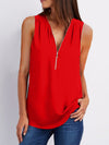 Fashion Loose Daily Chiffon Long Sleeve V Neck Vest