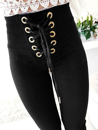 Fashion sexy slim strap casual long pants