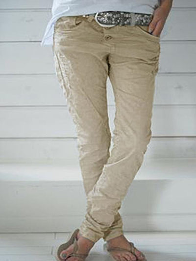 Fashion Women plain long pants