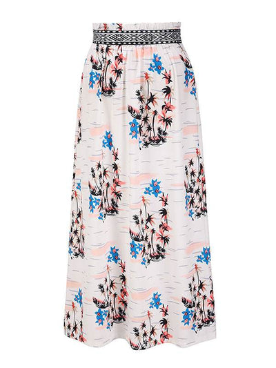Bohemia Women Printed long chiffon skirts