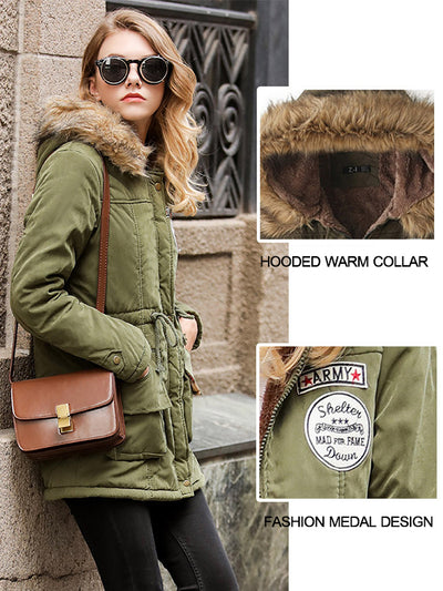 Hooded Warm camoFleece Winter Coats