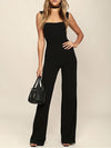 Sleeveless Solid Casual Polyester Jumpsuit