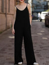 Black Spaghetti Solid Jumpsuit