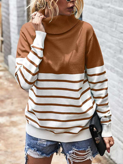 Stylish high neck  turtle neck long sleeve sweaters for women