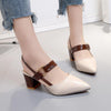 Dress PU Chunky Heel Buckle Sandals