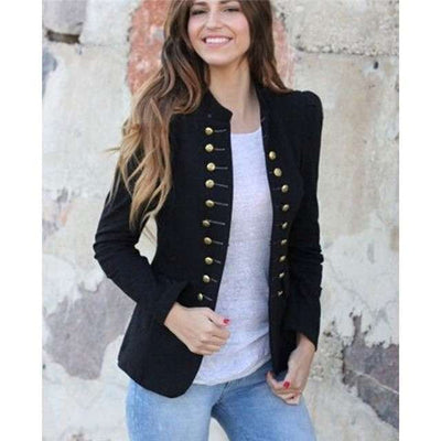 Fashion Pure Stand collar Long sleeve Blazer