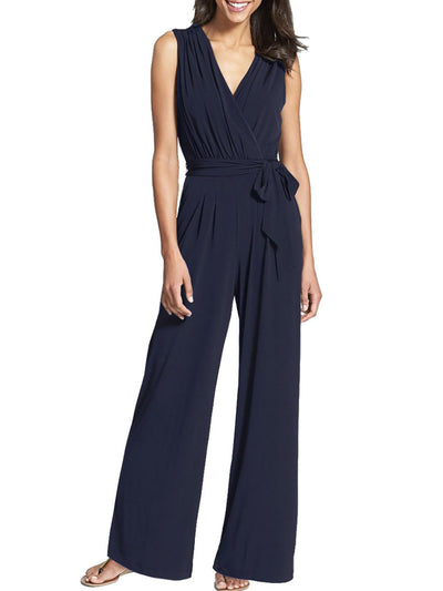Sleeveless Bow Casual Jumpsuit