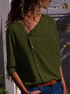 Autumn Fashion More Colors Button Long Sleeve Woman Blouse
