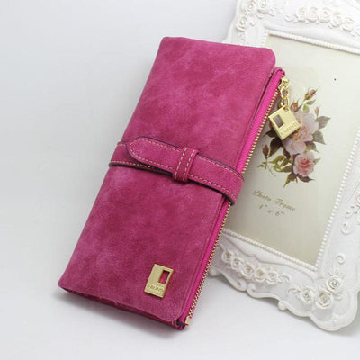 New Fashion 7 Colors Leather Zipper Wallet Women Wallets
