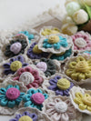 Multicolor Floral Knitted Brooch