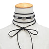 Fantacy Velvet choker jewelry silver Alloy Pattern Necklace
