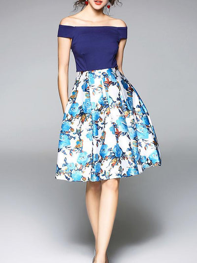 Elegant Printed A-Line Mini Dress