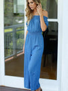 Off-the-shoulder Wide Leg Long Jumpsuits