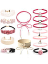 Sweet Velvet Adjustable Choker Necklace Sets