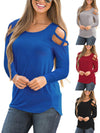 Fashion Pure Color Long-Sleeve Sweater